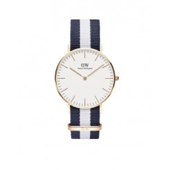 Daniel Wellington 0503DW Classic Glasgow Dameshorloge 36 mm Blauw/Wit