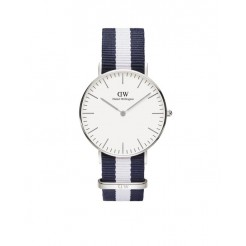 Daniel Wellington 0602DW Classic Glasgow Dameshorloge 36 mm Blauw/Wit
