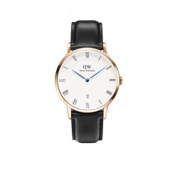 Daniel Wellington 1101DW Dapper Sheffield Rose Gold Dameshorloge 38 mm Zwart