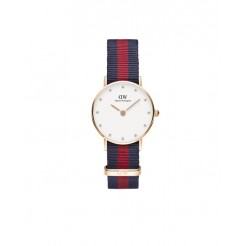 Daniel Wellington Classic Oxford Dameshorloge Nylon 30 mm Blauw/Rood