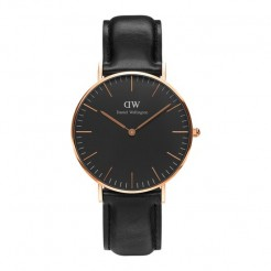 Daniel Wellington DW00100139 Classic Black Sheffield Dameshorloge 36 mm Zwart