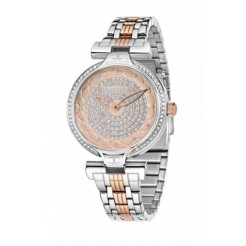 Just Cavalli Just Lady Dameshorloge (wit en rose)